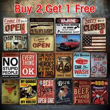 Vintage Retro Tin Metal Sign Plaque Pub Bar Wall Decor Poster Home Club Tavern