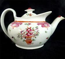 ANTIQUE GEORGIAN NEWHALL PORCELAIN TEAPOT - PATTERN 541 FLOWER BASKET - ao
