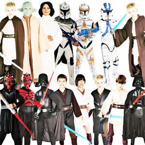 Star Wars Kids Fancy Dress Halloween Movie Boys Girls Childrens Costume Outfits