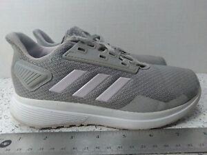Adidas Girls Size 1 Light Gray/White Sneakers
