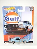 '69 Ford Mustang Boss 302 - Gulf - Hot Wheels Premium Car Culture (2019) NEW NOC