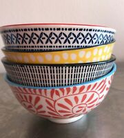 Small colourful porcelain bowls  Set of 4