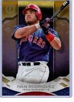 Ivan Rodriguez 2019 Topps Tribute 5x7 Gold #10 /10 Rangers