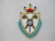 """#2888 2-3/4"""" Golf Champion Crown Badge Embroidery Iron On Applique Patch"""