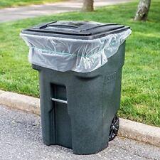 "ToughBag 95 Gallon Trash Bags, 1.5 Mil, Clear, 61""W x 68""H, 25 / Case"
