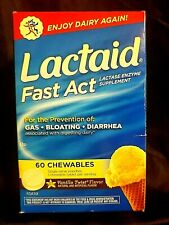 LACTAID FAST ACT..LACTASE ENZYME SUPPLEMENT..ENJOY DAIRY AGAIN..60 CHEWS..11/21