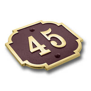 Personalised Traditional Chateaux House Number Plate Sign In Cast Brass