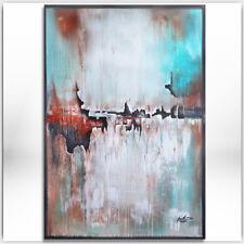 BRATIS ART ORIGINAL Abstrakt Malerei Kunst Gemälde Bild Leinwand XXL Acryl 258H