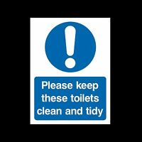 Please keep these toilets clean Sign, Sticker - All Sizes & Materials - (MISC86)