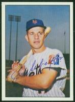Original Autograph of Jim Schaffer of the New York Mets on a 1978 TCMA Card