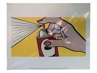 """Spray, 1962 by Roy Lichtenstein Print Chicago Art Institute 20""""x16"""""""