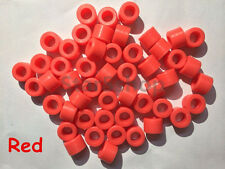 New 50 Pcs Red Color Small Type Dental Silicone Instrument Color Code Rings