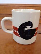 Vintage 70s Marco Polo Fine China White Ceramic Letter G Art Deco Coffee Mug