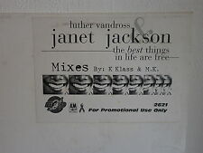 LUTHER VANDROSS & JANET JACKSON The best things in life are free 2621 MAXI 12""