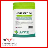 Lindens Hempseed Oil 300mg 100 Capsules Source of Omega 3 & 6