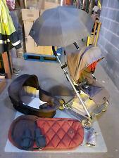Mamas & Papas Urbo Pushchair Pram Carrycot Footmuff Umbrella Brown UK DELIVERY