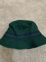 NEW Polo Ralph Lauren Classics Bucket Beach Golf Hat Green Blue Pony Size L/XL.