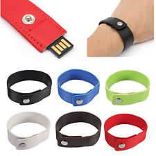 Wrist Bracelet 64GB USB 2.0 Flash Memory Stick Drive Storage Thumb U Disk Gift