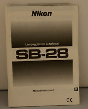 Nikon Flash SB-28 Manuale Istruzioni C Very good condition