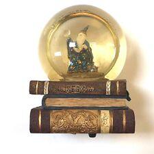 San Francisco Music Box Water Globe Dome 1994 Crystal Visions Sarnat Wizard Book
