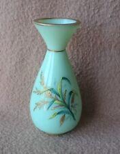 Antique bohemian français BACCARAT OPALINE Emaille Vase en verre Victorian
