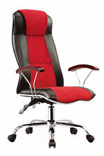 Office Desk Racing Gaming Chair Adjustable Leather Swivel Chair Wheel Arm Rest