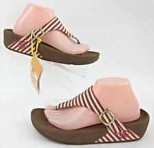 New With Tags! FitFlop 'The Skinny' Thong Sandals Red Stripe Textile ...