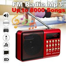 Mini Portable Radio LCD Digital FM USB TF MP3 Player Speaker Rechargeable