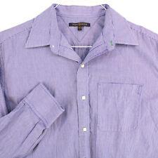 TOMMY HILFIGER Vtg Blue White Striped L/S Dress Shirt Men's L 16 1/2 32-33