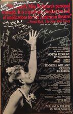 Vanessa Redgrave + Cast Signed ORPHEUS DESCENDING Broadway Poster Windowcard