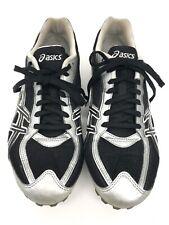 Asics Track & Field Spikes Cleats Hyper MD Running G901N Men Sz 10 Silver Black