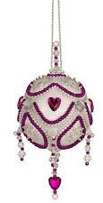 The Cracker Box Inc Christmas Ornament Kit First Luv White Iris and Purple