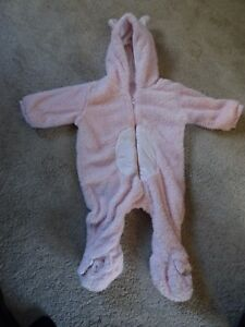 F&F Baby Girl Pram Suit Pink/One Piece 6-9 Months In Good Condition