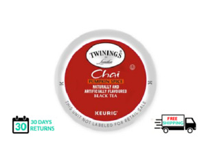 Twinings Chai Pumpkin Spice Keurig Tea 24 Count k-cups