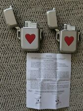 2 Tobacco Promotional Lighters, Weston Promo Products, Winston-Salem, w/Hearts