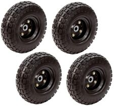 No Flat Tire 10 in. Hand Trucks Lawn and Garden Carts Pressure Washers (4-Pack)