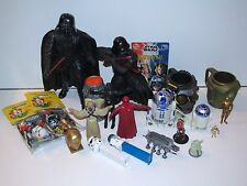 STAR WARS 1990s LARGE LOT VARIOUS TOYS PEZ APPLAUSE CANDY BENDABLES