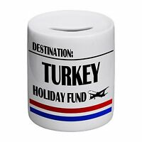 Destination Turkey Holiday Fund Novelty Ceramic Money Box