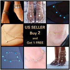 8 Styles Luminous Diamonds Vintage Anklet Ankle Bracelet Foot Chain