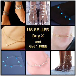 8 Styles Luminous Diamonds Vintage Anklet Ankle Bracelet Foot Chain