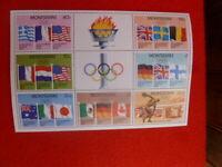 1968 OLYMPICS MONTSERRAT MINI SHEET MUH