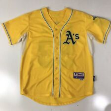 Authentic Oakland A's Alternate GOLD Cool Base Jersey Athletics 48 Cahill