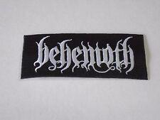 BEHEMOTH BLACK METAL EMBROIDERED PATCH