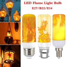 E27 B22 5W LED Burning Light Flicker Flame Candle Lamp Bulb Fire Effect Decor UK