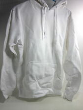EASTBAY MEN'S CORE FLEECE ATHLETIC WORK OUT HOODIE, WHITE, US SIZE X-LARGE