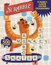 Scrabble Sticker Crosswords by Patrick Blindauer (2007, Paperback) NEW Ages 6-8