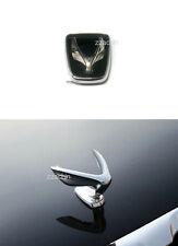 Hyundai EQUUS 2010+ OEM PARTS Tailgate Emblem & Hood Wing Ornament Set 2pcs