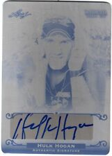Hulk Hogan 2012 Leaf National Redemption Set Autograph Black Printing Plate Card