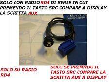 Aux solo ingresso audio Mp3 iPod Peugeot 207 307 308 Citroen C2 C3 a pannello