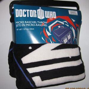 "Dr. Doctor Who THE TARDIS Micro Raschel Fleece Throw Blanket 50"" by 60"""